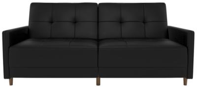 Andora Coil Futon, Black, large