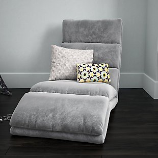 Atwater Living Briana Adjustable Wave Lounger, Gray, rollover
