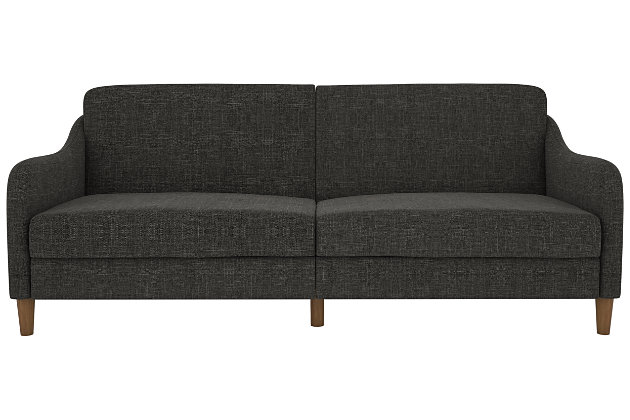 James Coil Futon, Gray, large