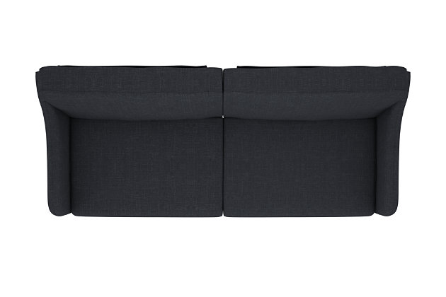 James Coil Futon, Navy, large