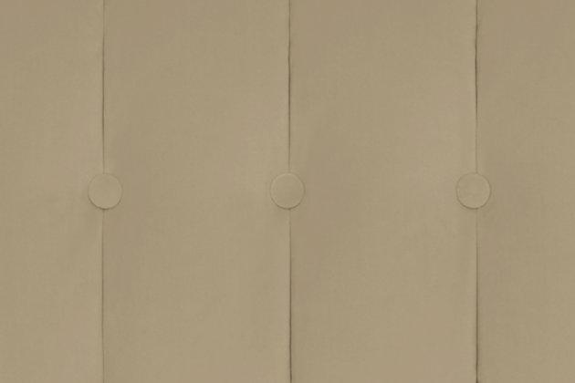 Pin Tufted Transitional Futon, Tan, large