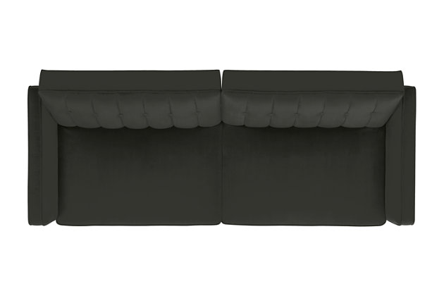 Pin Tufted Transitional Futon, Gray, large