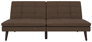 Premium Westbury Linen Pillowtop Futon, Brown, large
