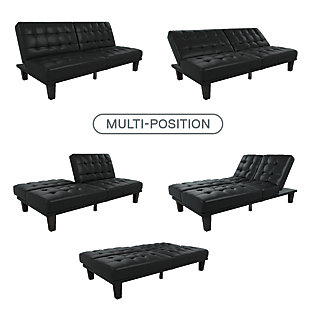 Mark Futon & Lounger, Black, large