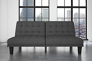 Mark Futon & Lounger, Gray, rollover