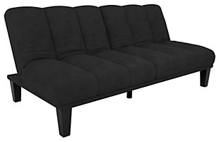 Burke Futon, Black, large
