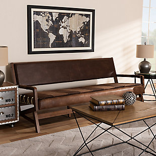 Baxton Studio Rustic Sofa, , rollover