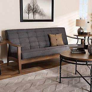 Baxton Studio Mid-Century Modern Sofa, , rollover