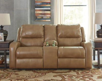 Reclining Loveseat Console Blondie Leather Power Product Photo 209