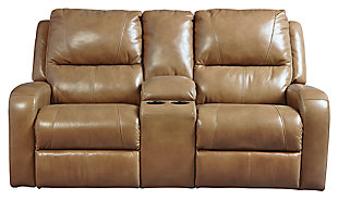 Roogan Reclining Loveseat with Console, , large