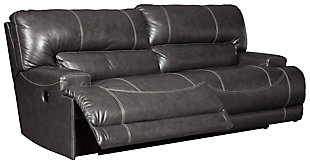 black leather reclining sofa. McCaskill Power Reclining Sofa, , Large Black Leather Sofa