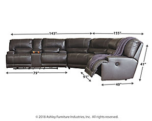 McCaskill 3-Piece Reclining Sectional, , large