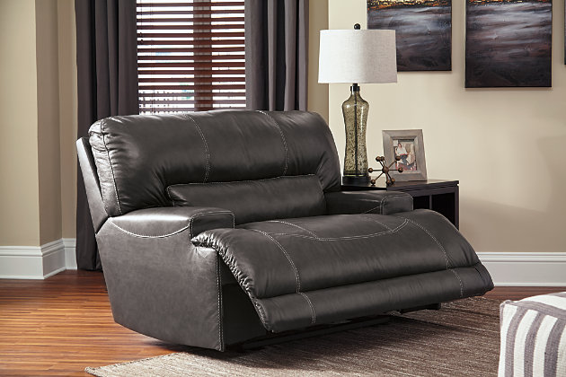 Extra-wide seat and plush cushioning on supple McCaskill recliner & McCaskill Oversized Power Recliner | Ashley Furniture HomeStore islam-shia.org