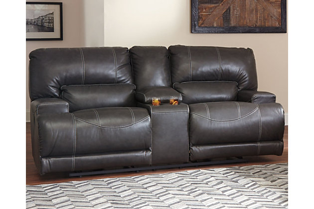Home; McCaskill Reclining Loveseat with Console. Living room decorating ex&le with this furniture item  sc 1 st  Ashley Furniture HomeStore & McCaskill Reclining Loveseat with Console | Ashley Furniture HomeStore islam-shia.org