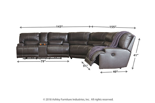 McCaskill 3-Piece Reclining Sectional with Power, , large