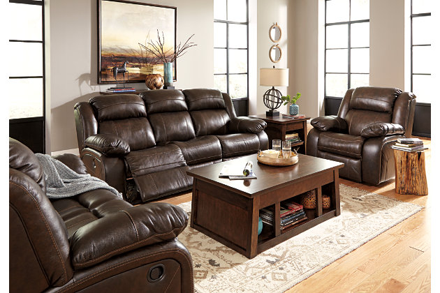 reclining living room set. Brown Reclining Sofa Living Room Set with Power Options Branton  Ashley Furniture HomeStore