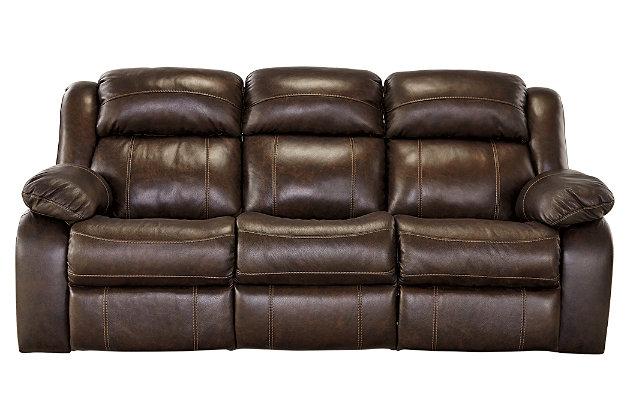 ... Branton Reclining Sofa, Antique, Large ...