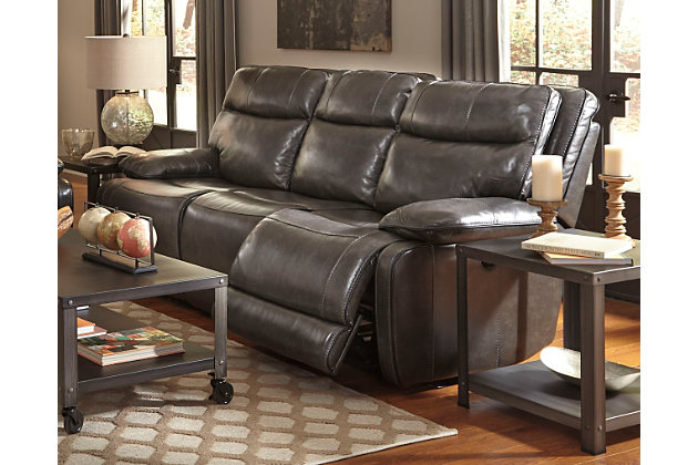 Ashley leather living room furniture Catalog Palladum Reclining Sofa Large Ashley Furniture Homestore Palladum Reclining Sofa Ashley Furniture Homestore