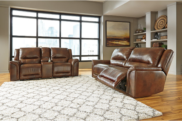 Ashley leather sofa sets ashley furniture kieran livingroom sofa set in natural local thesofa for Ashley leather living room furniture