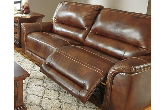 Jayron Reclining Sofa by Ashley HomeStore, Brown, Leather...