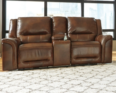 Loveseat Console Harness Leather Reclining Product Photo 262