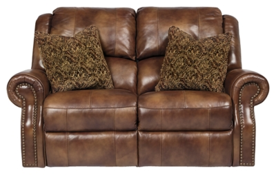 Reclining Loveseat Auburn Leather Power Product Photo 188