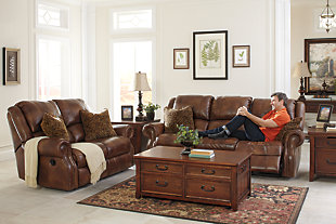 Walworth Power Reclining Loveseat, Auburn, rollover