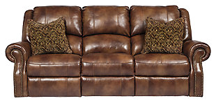 Walworth Reclining Sofa, Auburn, large