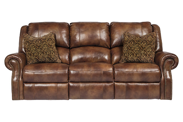 Charming Walworth Power Reclining Sofa, Auburn, Large ...