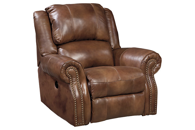 Marvelous Home; Walworth Power Recliner. Living Room Furniture Item On A White  Background