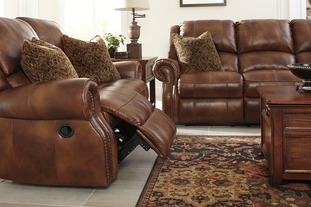 Beau Walworth Reclining Sofa, Auburn, Large ...