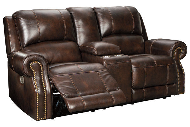 Buncrana Power Reclining Loveseat with Console, , large