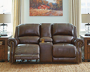 Buncrana Power Reclining Loveseat with Console, , rollover