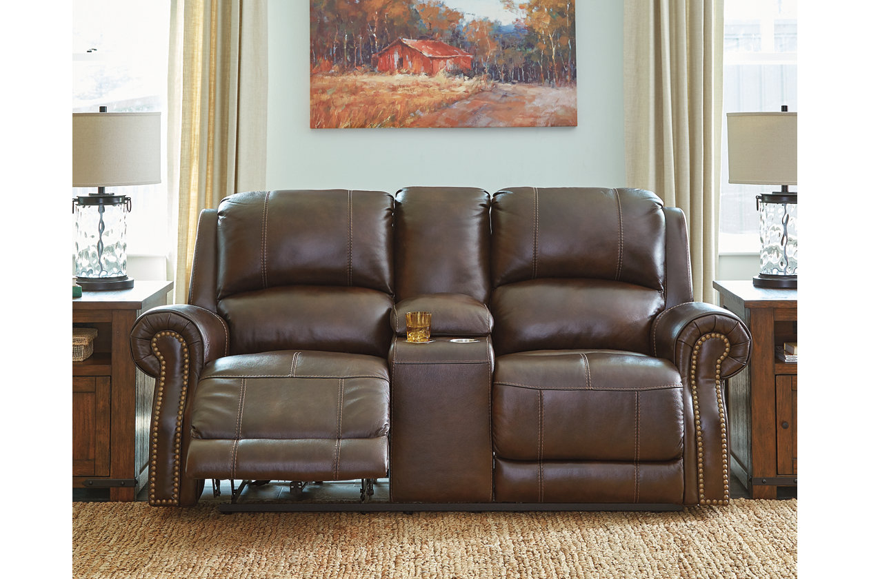 Pleasant Buncrana Power Reclining Loveseat With Console Ashley Inzonedesignstudio Interior Chair Design Inzonedesignstudiocom