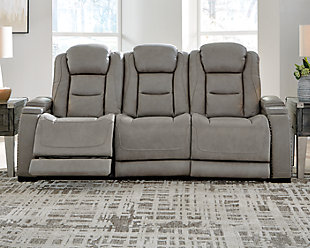 The Man-Den Power Reclining Sofa, , rollover