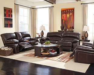 Damacio Oversized Recliner, Dark Brown, large