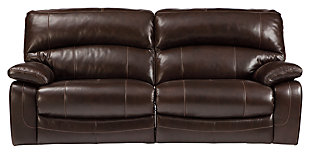 Damacio Reclining Sofa, Dark Brown, large