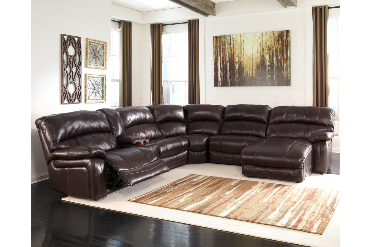 Damacio 6 Piece Reclining Sectional With Chaise And Power Ashley Furniture Homestore