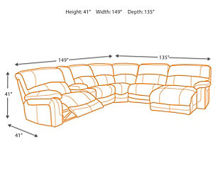 Damacio 6-Piece Sectional with Power, , large