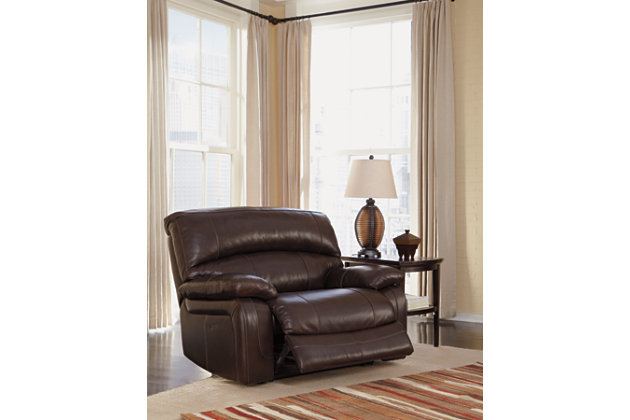 home damacio oversized recliner product shown in open position
