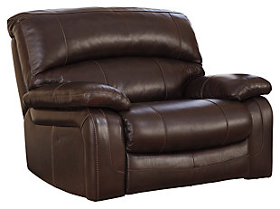 Damacio Oversized Power Recliner, Dark Brown, large
