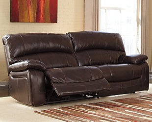 Damacio Reclining Sofa, Dark Brown, Large ...