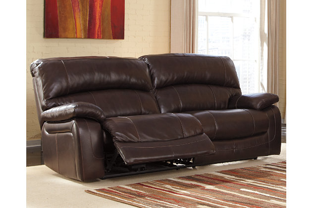 Damacio Reclining Sofa Dark Brown Large