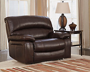 Damacio Oversized Recliner, Dark Brown, rollover
