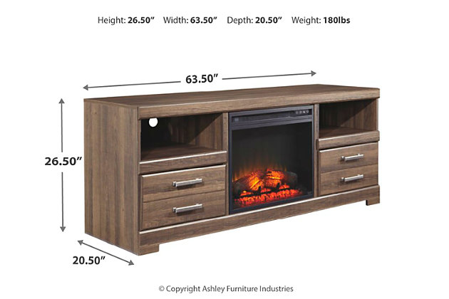 """Frantin 64"""" TV Stand with Fireplace, , large"""