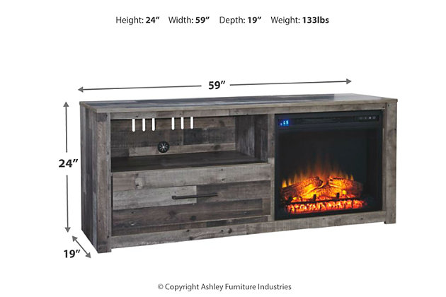 "Derekson 59"" TV Stand with Fireplace, , large"