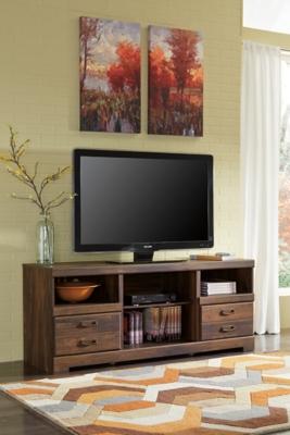 """Quinden 64"""" TV Stand by Ashley HomeStore, Dark Brown"""