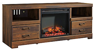 "Quinden 64"" TV Stand with Fireplace, , large"