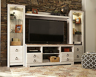 Willowton 4-Piece Entertainment Center, , large