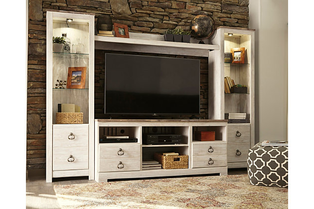 Willowton 4 Piece Entertainment Center Ashley Furniture
